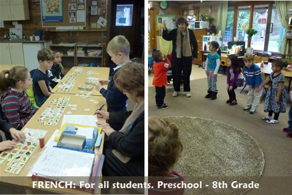 French at all levels: Preschool through 9th Grade
