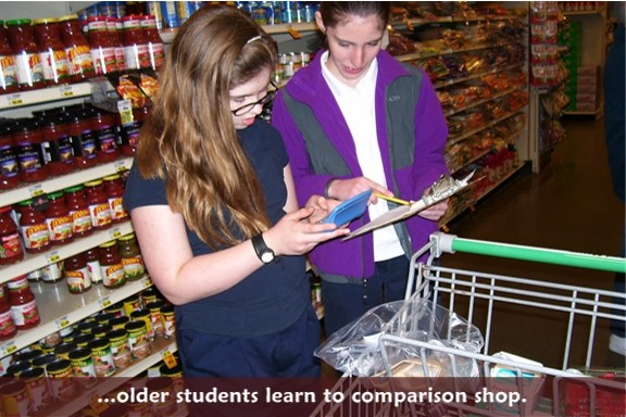 Middle School: Students learn to comparison shop